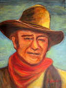 John Wayne Prints Framed Prints - The Duke Framed Print by Jodie  Scheller