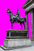 Colorful Art Photos - The Duke of Wellington Cyan by John Farnan