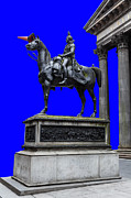 Colorful Art Photos - The Duke of Wellington GOMA blue by John Farnan