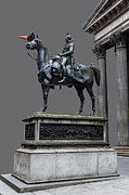 Colorful Art Photos - The Duke of Wellington GOMA  Grey by John Farnan