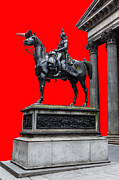 Colorful Art Photos - The Duke of Wellington Red by John Farnan