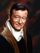 John Wayne Mixed Media - The Duke by Robert Wheater