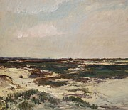 Sea Shore Posters - The Dunes at Camiers Poster by Charles Francois Daubigny
