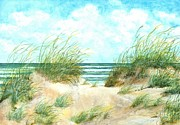 Sand Dunes Paintings - The Dunes of New Jersey by Michael Zippilli