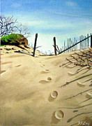 P Town Paintings - The Dunes of P Town by JJ Long