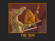 Leonard Filgate Metal Prints - The Duo Metal Print by Leonard Filgate