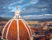 Dome Paintings - The Duomo by Erin Rickelton