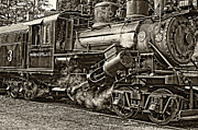 Wv Locomotive Photos - The Durbin Rocket 2 sepia by Steve Harrington