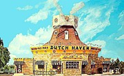 Lancaster Paintings - The Dutch Haven Restaurant In Lancaster Pa In The 1950s by Dwight Goss