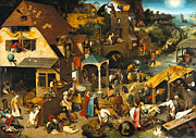 Famous Artists - The Dutch Proverbs by Pieter Bruegel the Elder