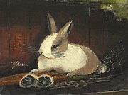 Paws Mixed Media - The Dutch Rabbit by Diane Strain