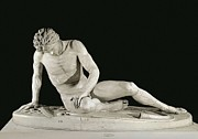 Greek Sculpture Prints - The Dying Gaul. 241 Bc. Roman Copy Print by Everett