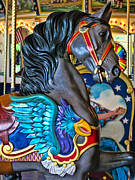 Amusements Metal Prints - The Eagle and Horse Metal Print by Colleen Kammerer