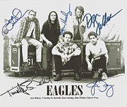 Schmidt Framed Prints - The Eagles Autographed Framed Print by Claudette Armstrong