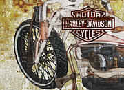 Warp Digital Art Framed Prints - The Early Years Of Harley Davidson Framed Print by Jack Zulli