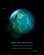 Universe Prints Posters - The Earth Poster by Gerlinde Keating - Keating Associates Inc
