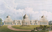 Dome Paintings - The East Front by English School