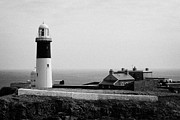 Irish Folklore Prints - The East Light lighthouse and buildings Altacarry Altacorry head Rathlin Island  Print by Joe Fox