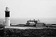 Irish Folklore Prints - The East Light lighthouse and buildings Altacarry Altacorry head Rathlin Island Northern Ireland Print by Joe Fox