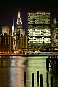 Skylines Photos - The East River by JC Findley