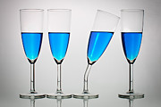 Wine-glass Photo Prints - The Eccentric Print by Gert Lavsen