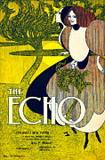 Color Lithographs Photo Acrylic Prints - The Echo 1895 Acrylic Print by Padre Art