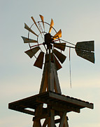 Evansville Photo Metal Prints - The Eddy House Windmill Metal Print by Dakota Light Photography by Nadene