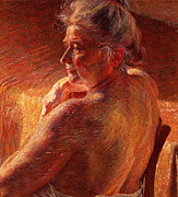 Sat Paintings - The Effect of Sunlight by Umberto Boccioni