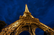 Paris Metal Prints - The Eiffel Tower at night Metal Print by Ayhan Altun