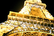 Champ De Mars Prints - The Eiffel Tower at night Print by Raimond Klavins
