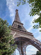 Land Mark Prints - The Eiffel Tower Print by Jimmy Karlsson