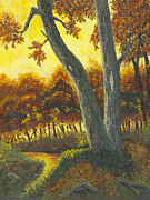 Autumn Trees Pastels Prints - The Elders Print by Garry McMichael