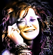 The Hills Mixed Media Posters - The Electric Janis Joplin Poster by Barbara Chichester