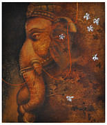 Santanu Maity Art - The Elephant God by Santanu Maity