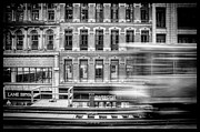 Chicago Black White Metal Prints - The Elevated Metal Print by Scott Norris