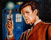 Tv Painting Posters - The Eleventh Doctor Poster by Al  Molina