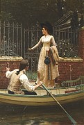 Escape Painting Posters - The Elopement Poster by Edmund Blair Leighton