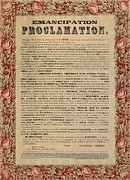 Abolition Mixed Media Framed Prints - The Emancipation Proclamation Framed Print by American School