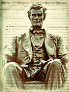 Emancipation Digital Art - The  Emancipation Proclamation and Abraham Lincoln by Kathy Clark