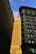 Midtown Posters - The Empire and the Flatiron Poster by Joann Vitali