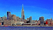 Chrysler Building Digital Art Metal Prints - The Empire State Building and The New York Skyline 20130430 Metal Print by Wingsdomain Art and Photography
