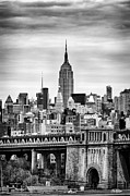 New York Winter Framed Prints - The Empire State Building Framed Print by John Farnan