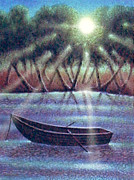 Row Boat Prints - The Empty Boat Print by Cristophers Dream Artistry