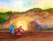Jesus Painting Originals - The Empty Tomb by Jennifer Greene