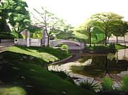 The Enchanted River Bridge 2 Print by JJ Long