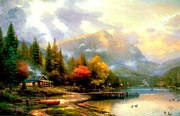 Kinkade Prints - The End of a Perfect Day III Print by Thomas Kinkade