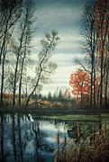 Environment Pastels Prints - The Endangered Wetlands No. Two Print by James Welch