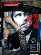 Barack Mixed Media Posters - The Endorsement Poster by Isis Kenney