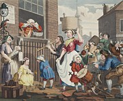 The Enraged Musician, Illustration Print by William Hogarth