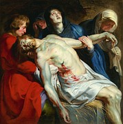 Rubens Metal Prints - The Entombment Metal Print by Pg Reproductions